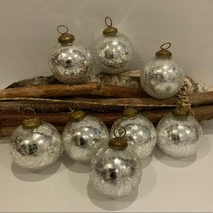 Other - 6 Silver Heirloom Ornaments.